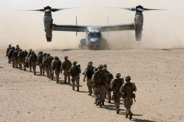 22nd Marine Expeditionary Unit conducts Helicopter Assault Course